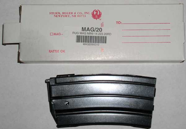NEW RUGER MINI 14 FACTORY 20 ROUND MAGAZINE